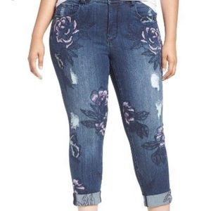 Seven Melissa McCarthy Embroidered Skinny Floral